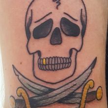 Pirate skull tattoo by Ren