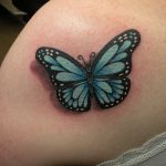 Tattoo by James Jameserson, 3D butterfly