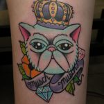 Tattoo by James Jameserson, musch the cat