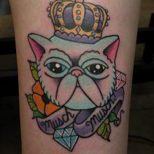 Tattoo by James Jameserson, musch the cat