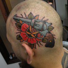 Tattoo by James Jameserson, head tattoo