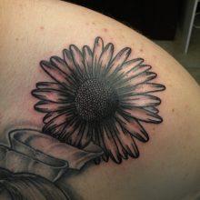 Tattoo by James Jameserson, sunflower