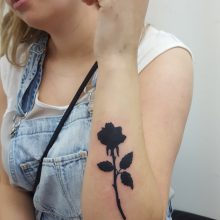 Ren rose silouette tattoo