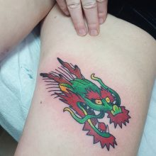 Chinese dragon tattoo by Ren