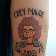 Maude from the Simpsons tattoo by Ren