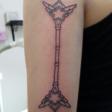 Wand tattoo by Ren