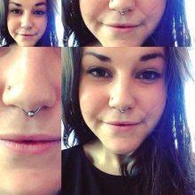 septum piercing by Tabatha Andreason