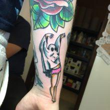 Teemu girl ghost tattoo