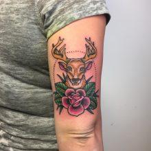 Teemu deer tattoo