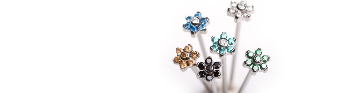 Industrial Strength Flower Nostril Studs