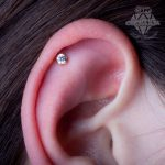 Helix piercing by Matt