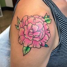 Teemu Pink Peony Tattoo