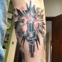 Teemu Gear Chain Tattoo