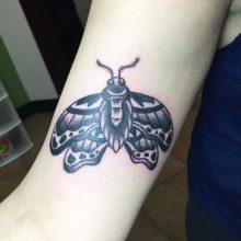 Teemu Moth Tattoo