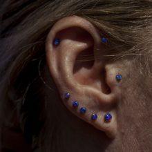 Multi lobe piercings by Matt
