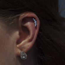 Helix piercing by Matt