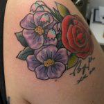James Jameserson Floral Tattoo