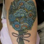 James Jameserson Blue Bouquet Tattoo