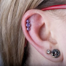 Helix piercing by Matt Bresmer