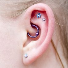 Helix flat piercings and daith by Matt Bressmer