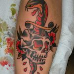 Snake and dagger and skull by James Jameserson
