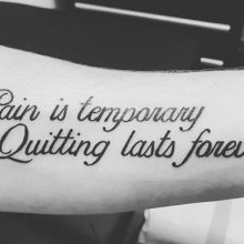 Pain Is Temporary Quitting Lasts Forever by Renato Marino