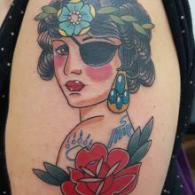 Lady tattoo by Ren