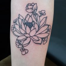 Lotus tattoo by Ren