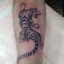 Tiger tattoo by Ren