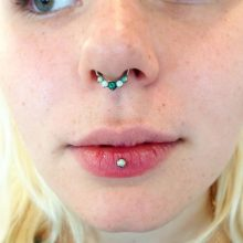 vertical lip and septum upgrade by Tabatha Andreason