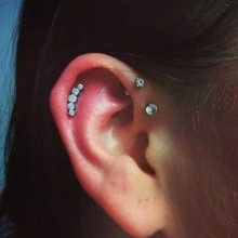 helix piercing by Tabatha Andreason