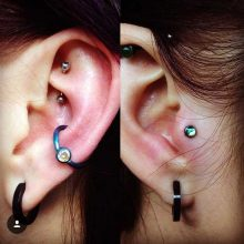conch and tragus piercings by Tabatha Andreason