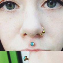 philtrum piercing by Tabatha Andreason