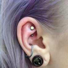 rook piercing by Tabatha Andreason