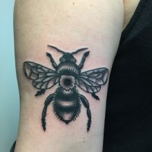 Teemu bumble bee tattoo