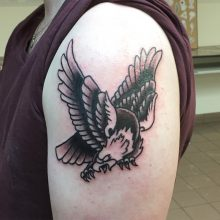Teemu eagle tattoo