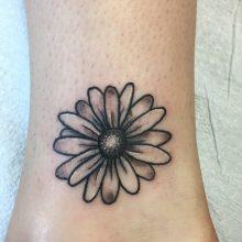Teemu flower tattoo, small