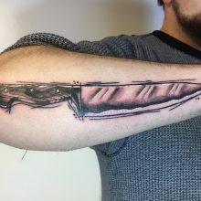 Teemu knife tattoo