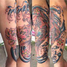Teemu Koi Fish tattoo