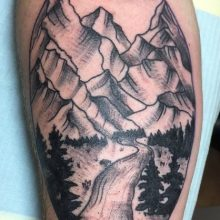 Teemu Mountains Tattoo