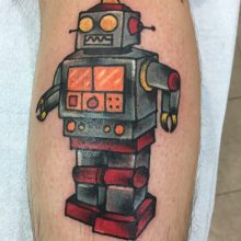 Teemu robot tattoo