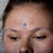 Third Eye piercing by Matt Bressmer