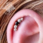 Helix piercing with a prium end from Industrial Strength by Matt