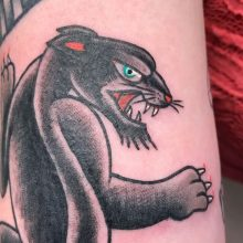Teemu Black Panther Tattoo