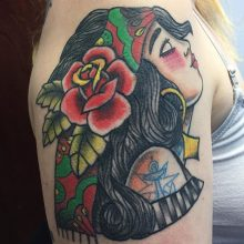 Teemu Gypsy Lady Tattoo