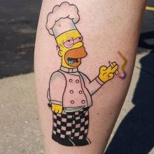 Ren Homer Simpson stoned tattoo