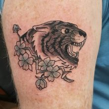 Ren Black Tiger Tattoo