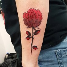 Ren Red Rose Tattoo