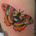 James Jameserson orange moth tattoo